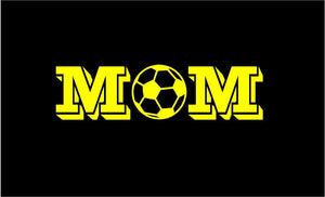 scoccer mom decal car truck window sports sticker