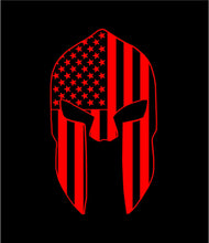 Load image into Gallery viewer, patriotic spartan corintian helmet decal