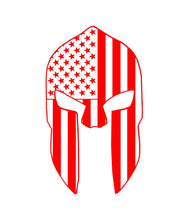 Load image into Gallery viewer, patriotic spartan helmet decal