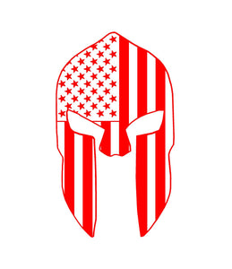 patriotic spartan helmet decal