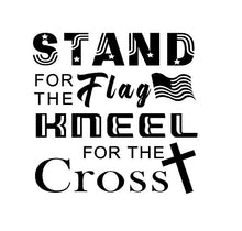 Load image into Gallery viewer, stand for the flag kneel for the cross custom vinyl decal