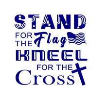 Load image into Gallery viewer, Stand for the flag kneel for the cross decal