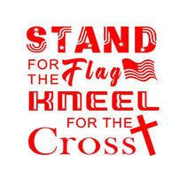 Load image into Gallery viewer, stand for the flag kneel for the cross sticker