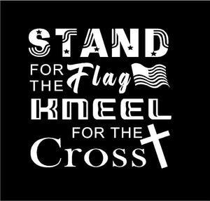 stand for the flag kneel for the cross car decal