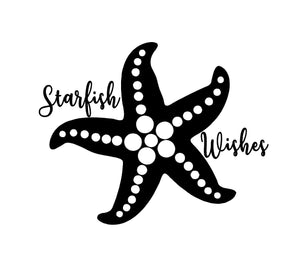 starfish wishes laptop decal