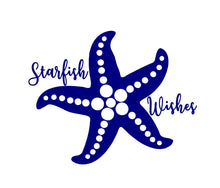 Load image into Gallery viewer, starfish wishes window decal