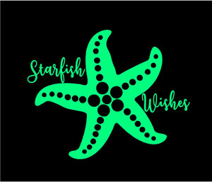 starfish wishes car decal