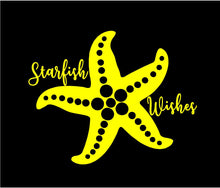 Load image into Gallery viewer, starfish wishes car sticker