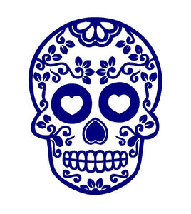 Sugar Skull Decal Custom Vinyl Car Truck Window Sticker