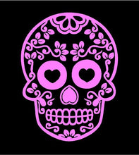 Load image into Gallery viewer, sugar skull decal car truck window skull sticker