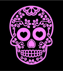 sugar skull decal car truck window skull sticker