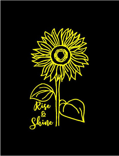 sunflower rise and shine decal car truck window laptop sticker