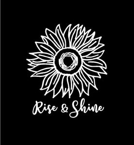 rise and shine sunflower decal car truck window sticker