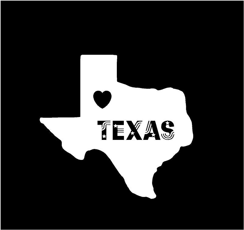 texas state pride decal car truck window sticker