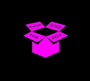Think Outside The Box Decal Custom Vinyl Car Truck Window Laptop Sticker