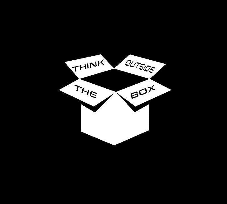 think outside the box decal car truck window sticker