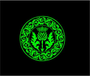 celtic thistle decal