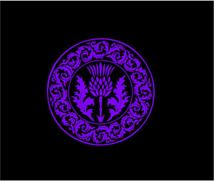 scotland thistle decal