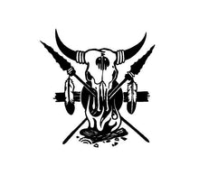Load image into Gallery viewer, tribal steer skull car decal