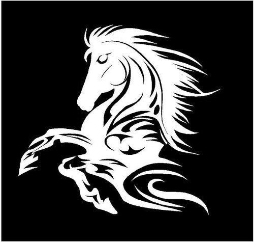 Tribal Horse Decal car truck widow sticker