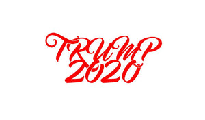Trump 2020 Decal Custom Vinyl Political Car Truck Window Sticker