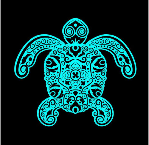 intricate sea turtle decal car truck window turtle sticker