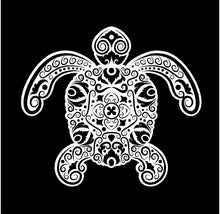 Load image into Gallery viewer, Intricate Sea Turtle Decal Custom Vinyl car truck window sticker