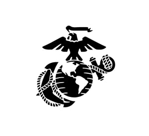 USMC EGA Decal Custom Vinyl car truck window US Marine Military Sticker