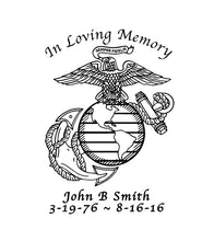 Load image into Gallery viewer, in loving memory usmc ega sticker