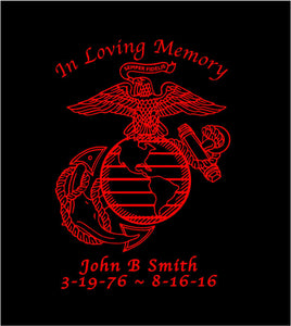 in loving memory customizable usmc ega car decal