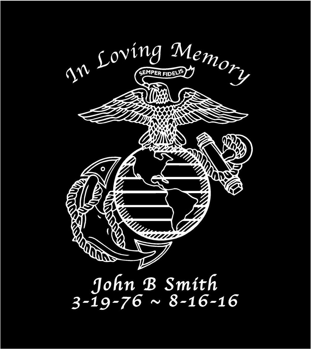 in loving memory usmc memorial decal