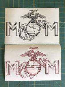 USMC mom car decals