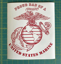 Load image into Gallery viewer, USMC Proud Dad Decal