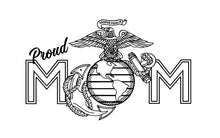 Load image into Gallery viewer, usmc ega proud mom sticker