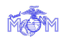 Load image into Gallery viewer, proud marine mom decal