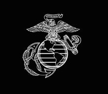 Load image into Gallery viewer, usmc ega die cut decal car truck window military sticker