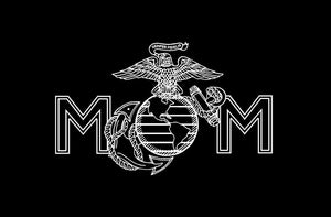 usmc mom decal car truck window marine sticker