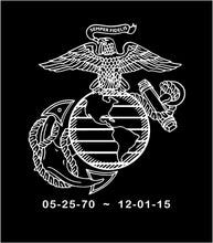 Load image into Gallery viewer, USMC EGA Customizable Memorial Decal Custom Vinyl Car Truck Window Sticker