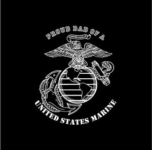 USMC Proud Mom Dad Parent US Marine Military Custom Vinyl Car Truck Window Sticker