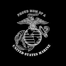Load image into Gallery viewer, proud mom dad of a us marine ega decal car truck window military sticker