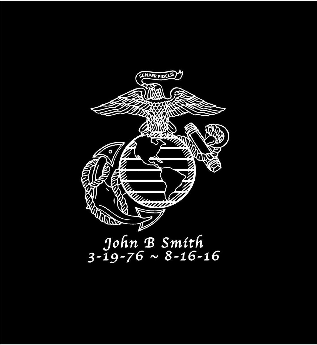 USMC EGA Customizable Memorial Decal Custom Vinyl Car Truck Window Sticker