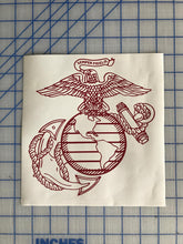 Load image into Gallery viewer, usmc ega decal car truck window military marine sticker