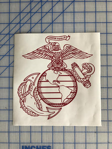 usmc ega decal car truck window military marine sticker