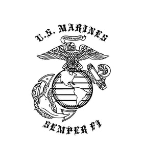 US Marines EGA Semper Fi Custom Vinyl Decal sticker
