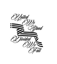 Load image into Gallery viewer, United We Stand Divided We Fall Decal Custom Vinyl Car Truck Window Sticker