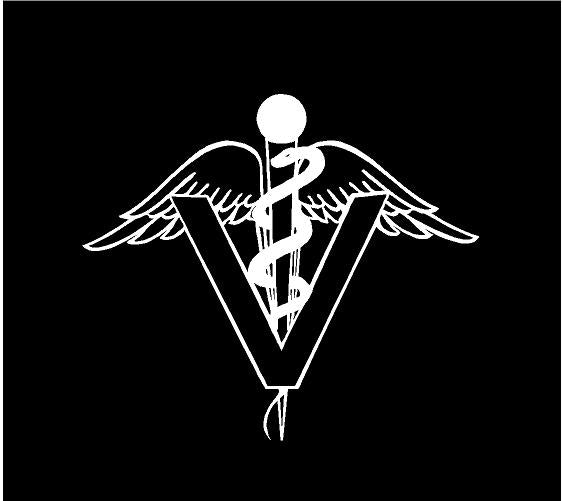 veterinarian symbol decal car truck window vet sticker