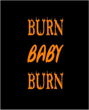 Load image into Gallery viewer, burn baby burn water bottle decal