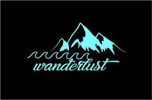 wanderlust car sticker