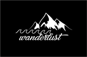 Wanderlust Decal Custom Vinyl Car Truck Window Sticker