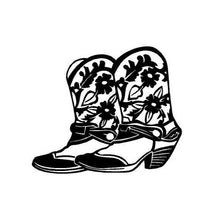 Load image into Gallery viewer, Western Cowgirl Boots Decal Custom Vinyl car truck window laptop Sticker